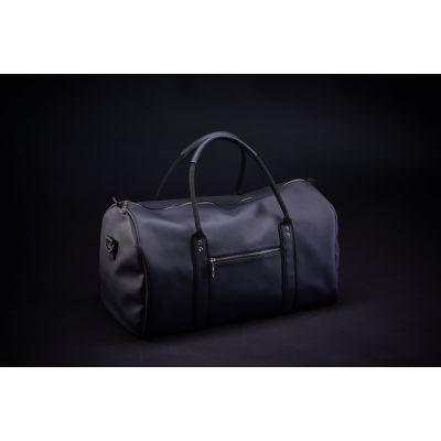 Дорожная сумка кожаная Schultiz (черная, Наппа)