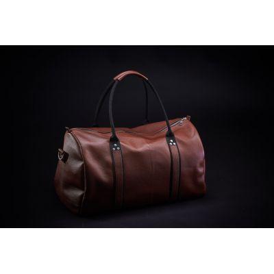 Дорожная сумка кожаная Schultiz (коричневая, Дастер)