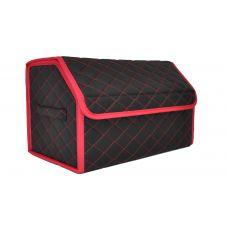 Сумка органайзер (саквояж) для багажника авто с липучкой сзади 30х30х50 см (цвет красный)