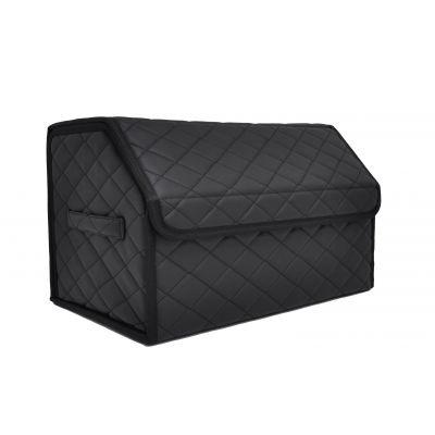 Сумка органайзер (саквояж) для багажника авто с липучкой сзади 30х30х50 см (цвет черный)