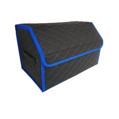 Сумка органайзер (саквояж) для багажника авто с липучкой сзади 30х30х50 см (цвет синий)